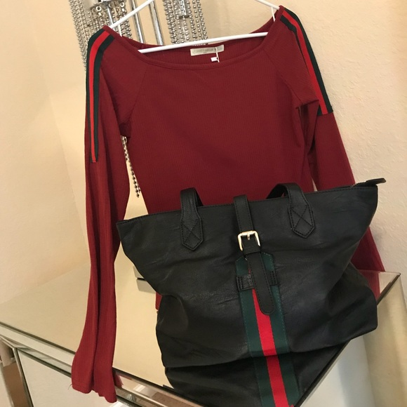 5a6eff5c Gucci Tops | Nwt Shirt And Handbag Themed Set | Poshmark